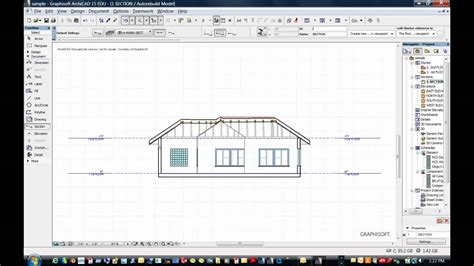 what is a section 5 archicad how to create a section youtube