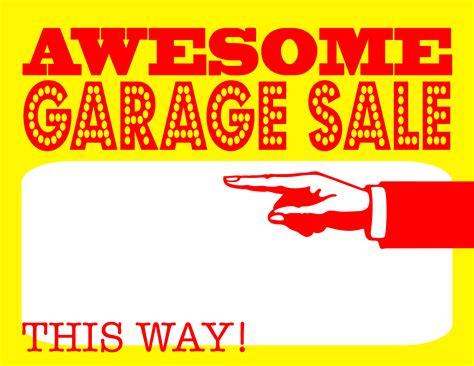 garage sale sign template free garage sale advertising