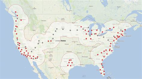 Tesla Charger Map Charging Tesla Goes Coast To Coast Stations Next Year