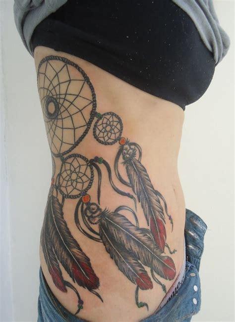 dream catcher tattoo on side 60 dreamcatcher designs 2017