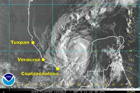 imagenes satelitales del clima nate amenaza llegar a veracruz como hurac 225 n 9 septiembre