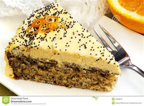 kuchen mit mohn orange kuchen mit mohn lizenzfreies stockbild bild 10928676