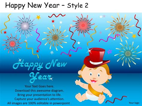 template powerpoint happy new year happy new year celebration style 2 powerpoint templates