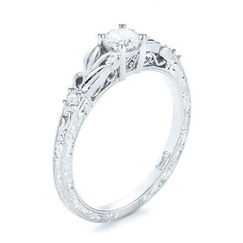 custom engraved engagement ring 103242