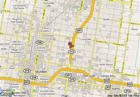 pharr texas map map of hton inn suites pharr tx pharr