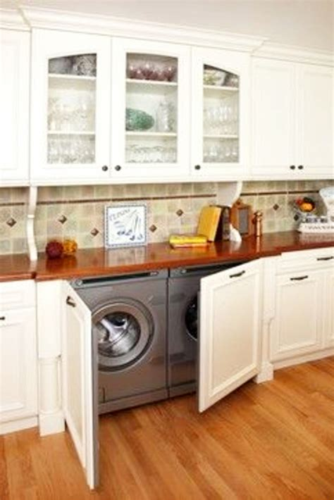 laundry in kitchen ideas laundry nook ideas we easy diy ideas from involvery