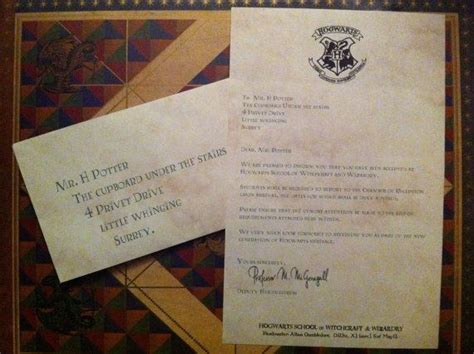 Hogwarts Acceptance Letter Birthday Harry Potter Customized Hogwarts Acceptance Letter