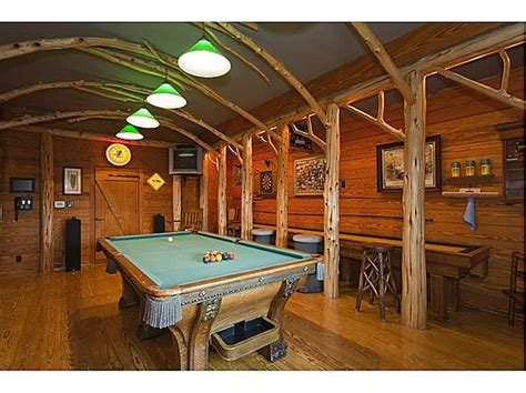 log home game room decor setting up your quot man cave quot for super bowl sunday abode