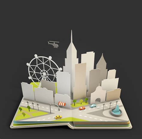 city pop up card template the world s catalog of ideas