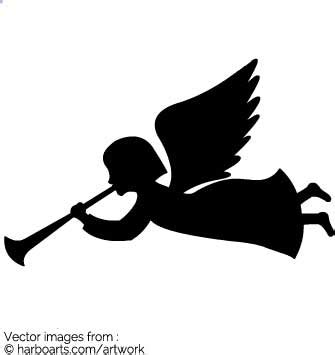 designing silhouettes of angels demo download angel silhouette vector graphic