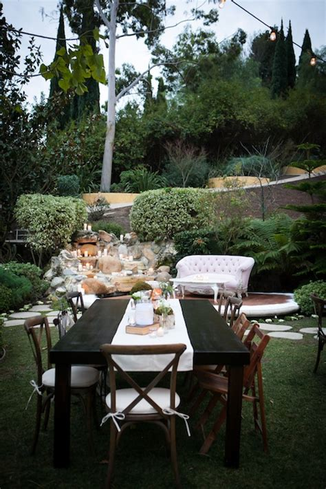 backyard wedding rentals rachel spencer s backyard wedding found vintage rentals