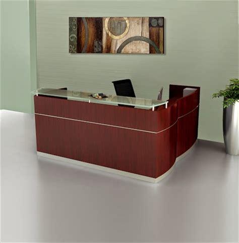 Mayline Napoli L Shape Reception Desk Reception Station Desk
