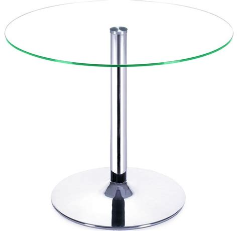 zuo modern galaxy cafe or bar table clear with glass top