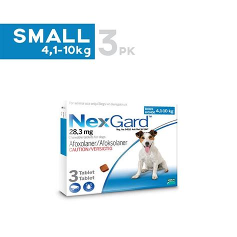 nexgard for dogs 4 10 lbs nexgard chewable tablets for small dogs 10 1 24 lbs 4 10kg unitedpetworld