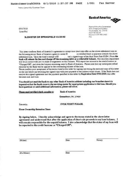 Loan Approval Letter Sle Bank Of America Approves Sale On 2nd Trust Home Equity Loan In Springfield Va 1st Trust
