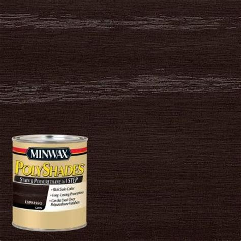 Sherwin Williams Black Bean minwax 1 qt polyshades espresso satin stain and