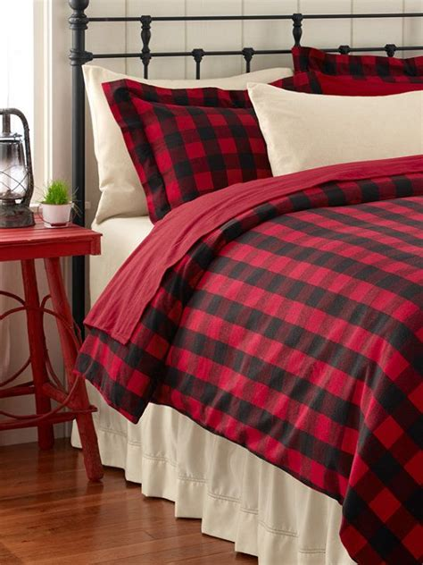 red flannel comforter l l bean ultrasoft flannel sham buffalo plaid pillowcases