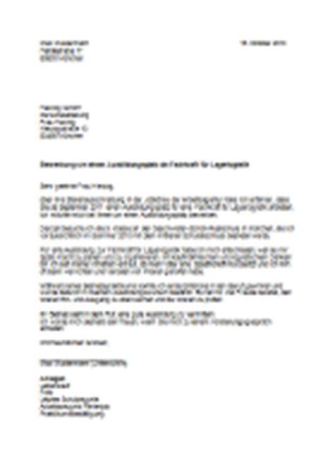 Initiativbewerbung Anschreiben Fachkraft Lagerlogistik Azubi Azubine Berufe Datenbank Fachkraft F 252 R Lagerlogistik