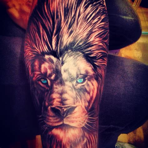 lion eyes tattoo males arm amazing are hotter with