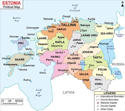 map of estonia maps of estonia bizbilla