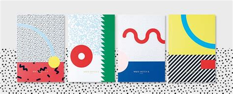 memphis pattern notebook fun finds for the modern home office