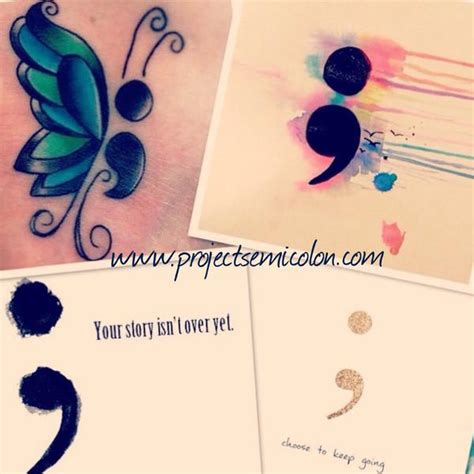 semicolon tattoo project project semicolon punctuation helps raise mental