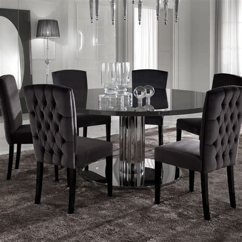 modern round dining room sets italian modern designer chrome round dining table
