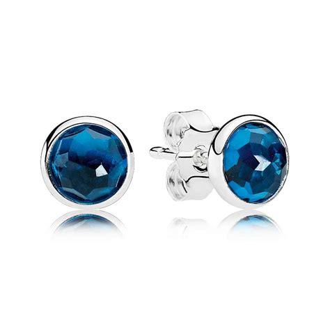 december birthstone pandora december birthstone blue crystal droplet earrings