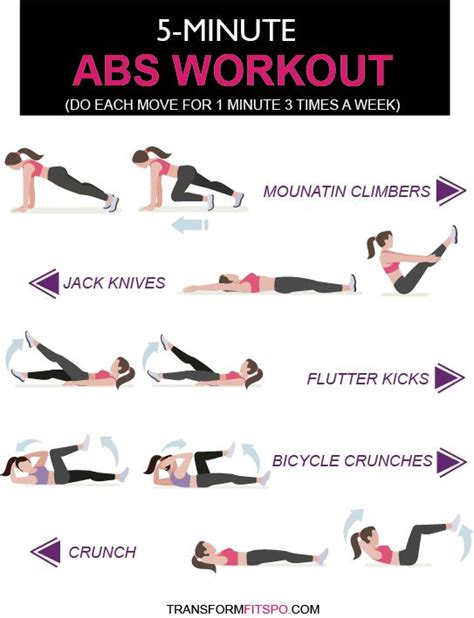 best 25 5 minute abs ideas on ab