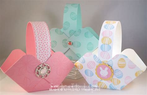How To Make A Easter Basket Out Of Paper - make easter baskets ink it up with card