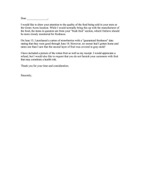 Complaint Letter About Restaurant Bad Service And Food Complaint Letter Spoiled Food