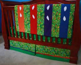 Turtle Crib Bedding Sets Mutant Turtle Baby Bedding By Bedhogshop On Etsy