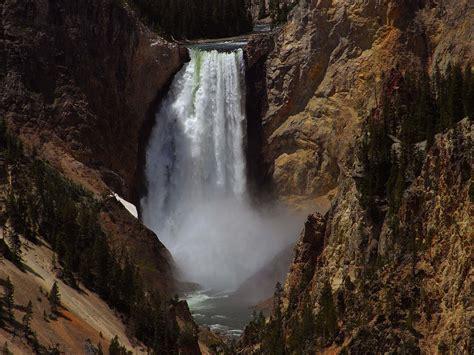 yellowstone lower falls waterfall in yellowstone yellowstone country gallery yellowstone river bend cabin