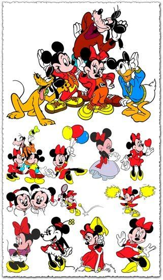minnie mouse vector cartoons