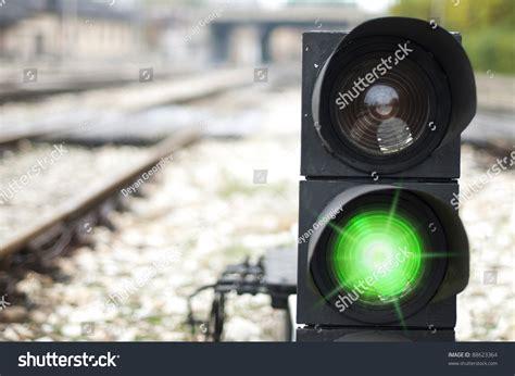 light rail ticket violation traffic light shows green signal on railway green light