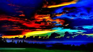 dramatic colors dramatic sky golf course colors clouds