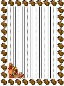 Thanksgiving Lined Writing Paper Free Coloring Pages Of Primary Lined Paper