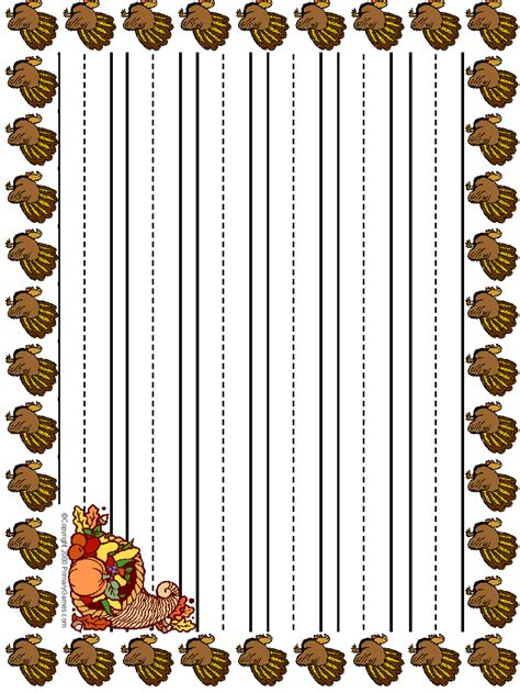 free thanksgiving writing paper free coloring pages of primary lined paper