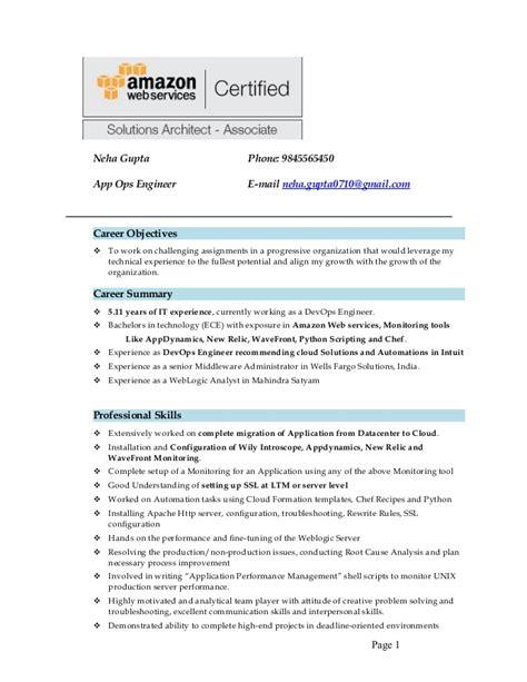 Sample Resume Work Objectives by Resume Neha Aws