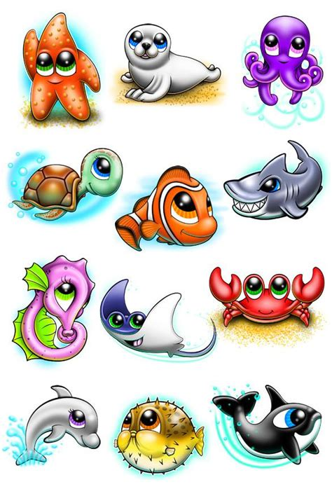 under the sea temporary tattoo set tatt me temporary tattoos