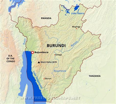 africa map burundi burundi physical map