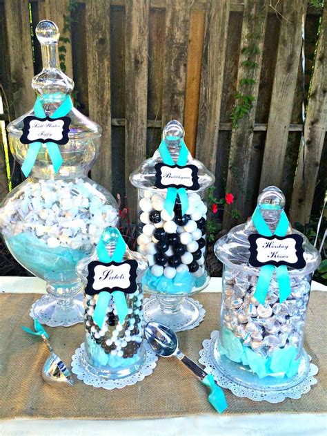 Kara's Party Ideas Rustic, Black, White, & Tiffany Blue