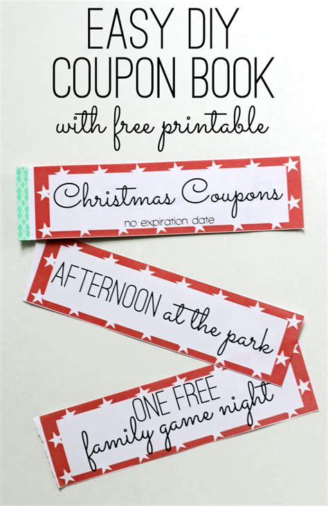 printable xmas coupons free printable kids christmas coupon books