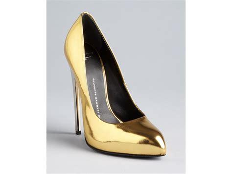 giuseppe zanotti high heels giuseppe zanotti pointed toe pumps frida high heel in gold