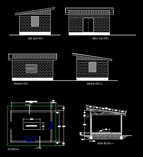 generator shed dwg plan  autocad designs cad