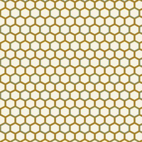 gold honeycomb pattern honeycomb tiles fabric littlerhodydesign spoonflower