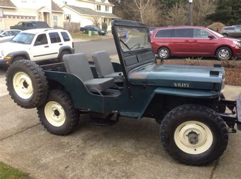 1952 Jeep Willys 1952 Willys Jeep Cj3a Original Paint For Sale Willys