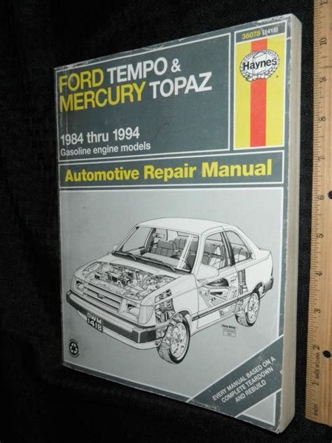 service manual 1988 mercury topaz vvti engines repair purchase haynes ford tempo mercury topaz 1984 94 auto repair manual 36078 1418 motorcycle in