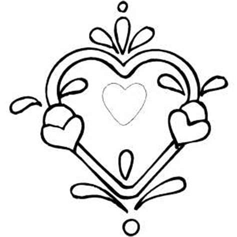heart design coloring page