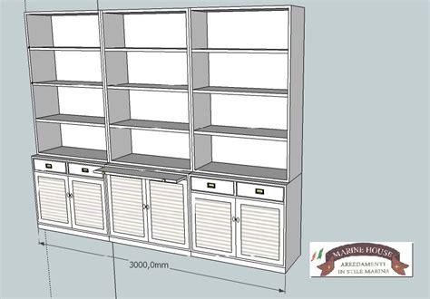 libreria progetto mobili e arredamenti in stile marina anche su misura